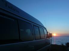 「夕陽とFuture@はまなすの丘」