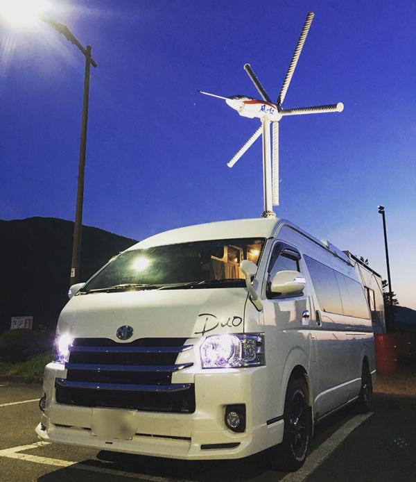 道の駅【遠野 風の丘】にて業界初ソーラー&大出力風力発電バンコン